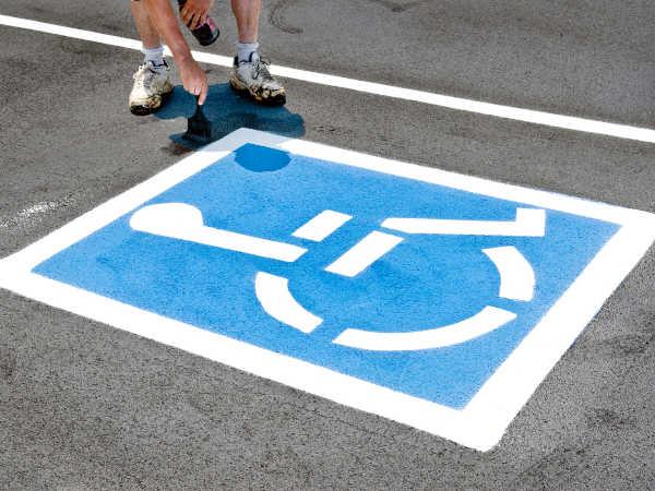 ADA parking lot compliance in Riverside