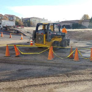 parking lot being repaired