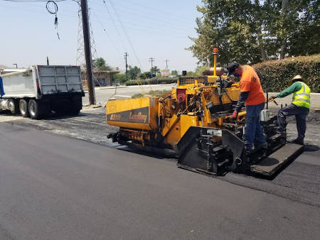 Parking Lot Being paved