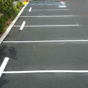 parking lot have line markings done