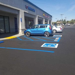 Parking lost with new ADA paint markings